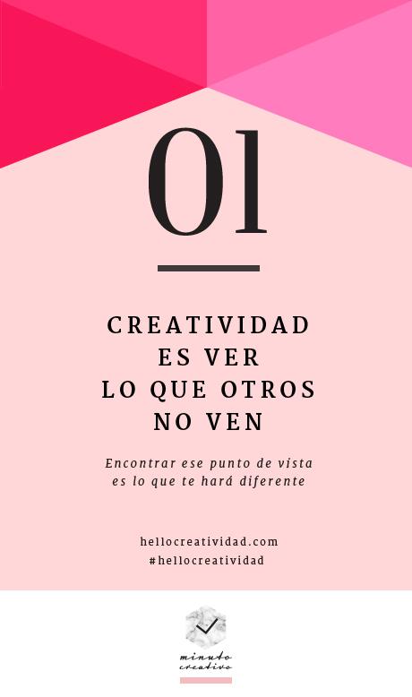 Minuto creativo – 1