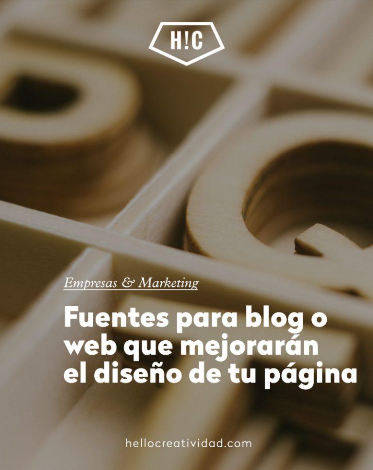 Imagen portada Fuentes para blog o web que mejorarán el diseño de tu página