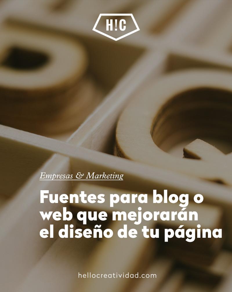 Fuentes para blog o web que mejorarán el diseño de tu página