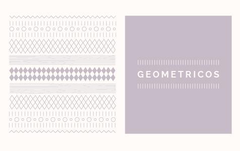 patron geométrico Hello! Creatividad