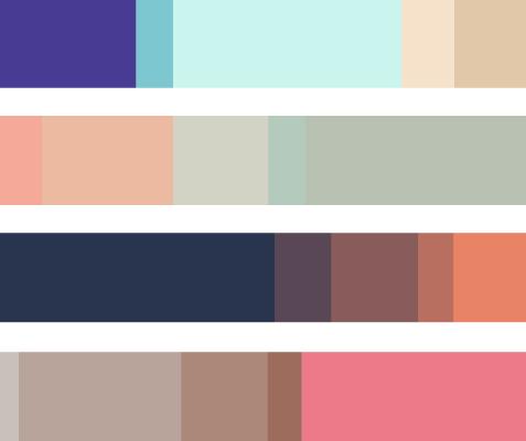 Ejemplos paletas Colourlovers Hello! Creatividad