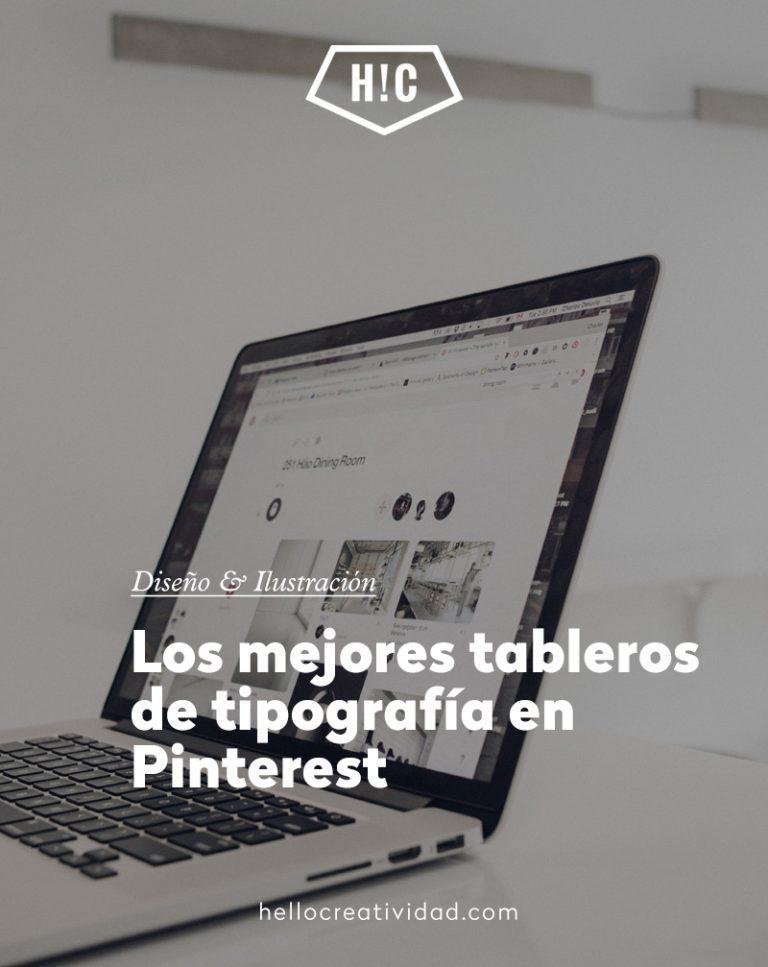 Imagen portada Los mejores tableros de tipografía en Pinterest