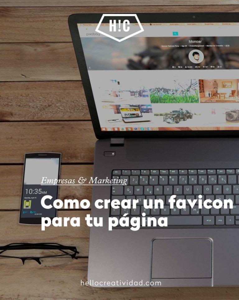 Imagen portada Como crear un favicon para tu página