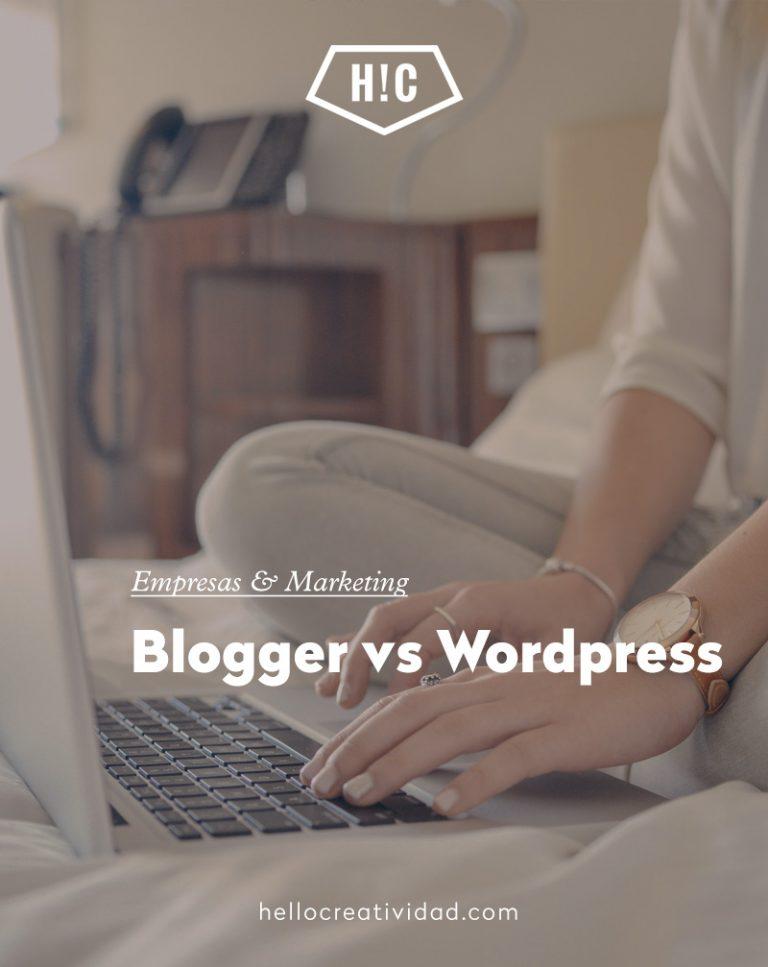 Imagen portada Blogger vs WordPress