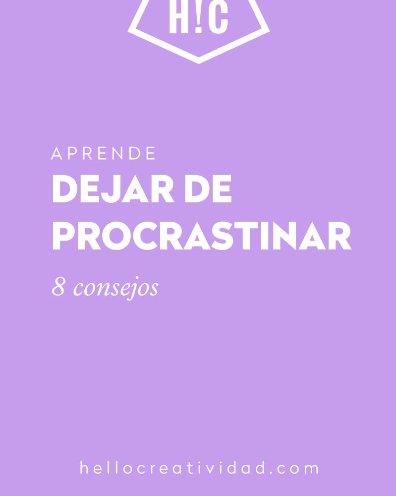 dejar de procrastinar
