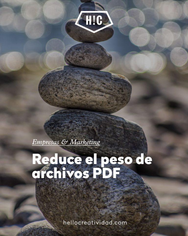 Imagen portada Reducir el peso de archivos PDF