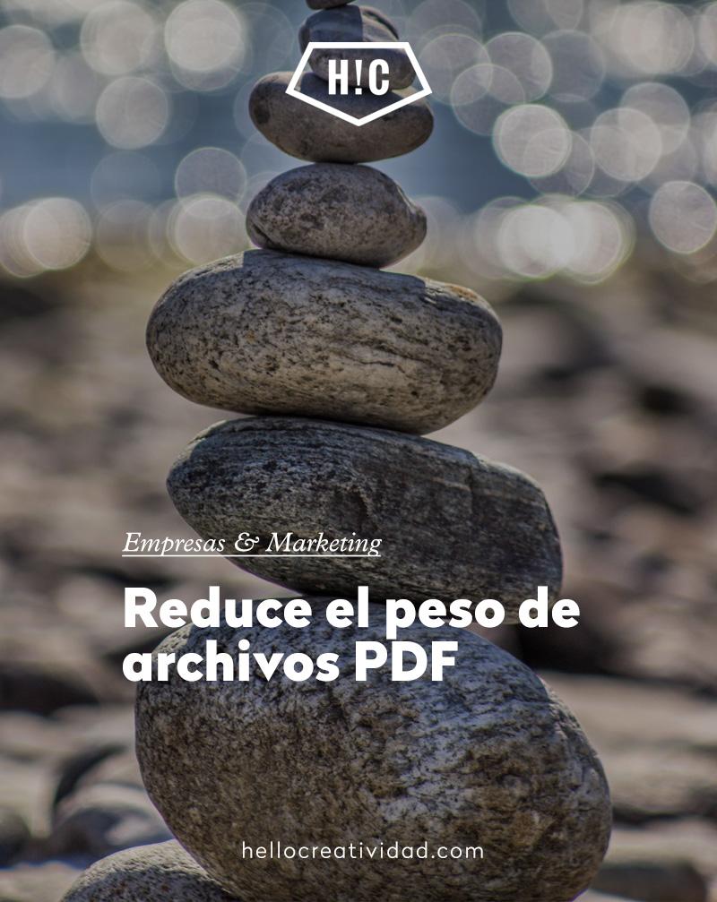 Reducir el peso de archivos PDF