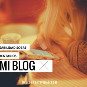 Responsabilidad sobre comentarios en el blog