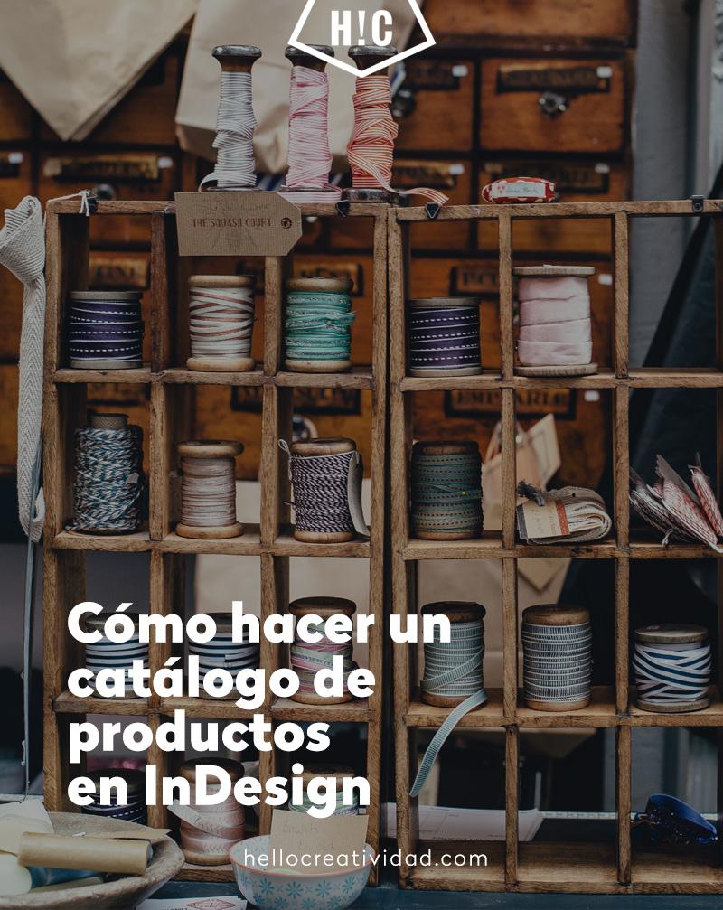 Cómo hacer un catálogo de productos en InDesign
