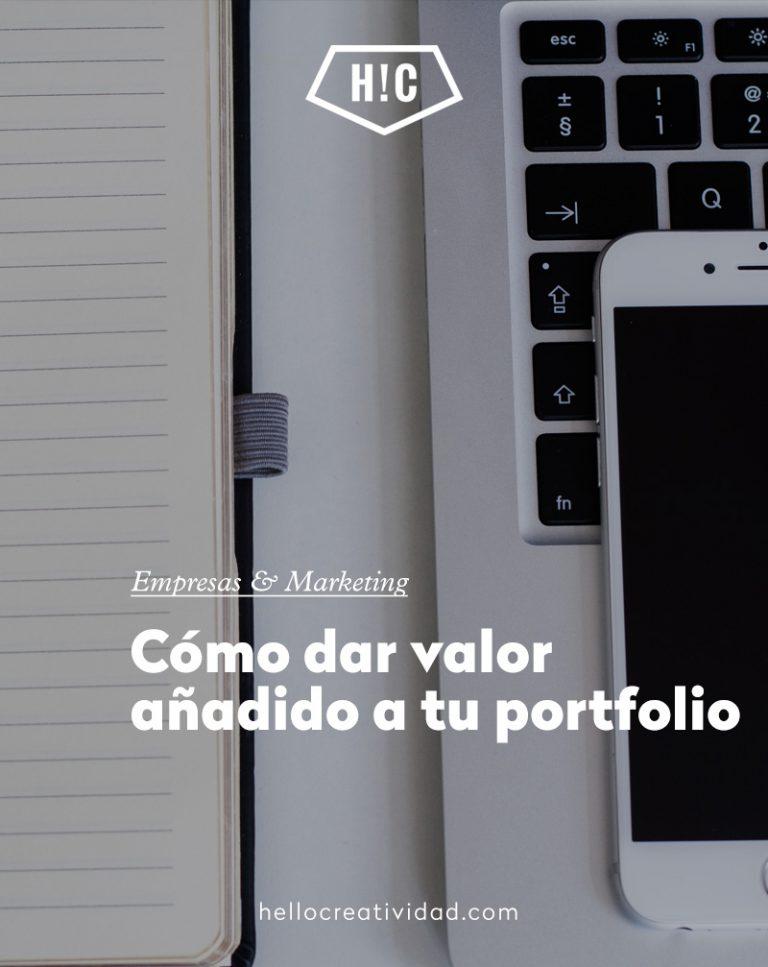 Imagen portada cómo dar valor añadido a tu portfolio