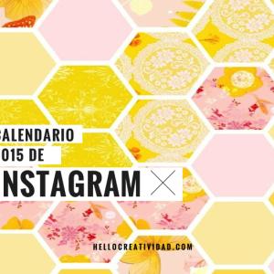 El calendario 2015 de Instagram