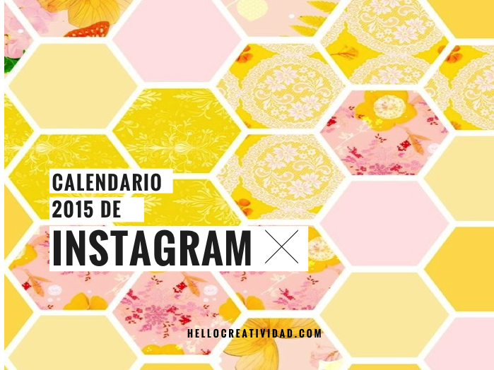 El calendario 2015 de Instagram