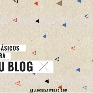 Cuatro básicos para tu blog