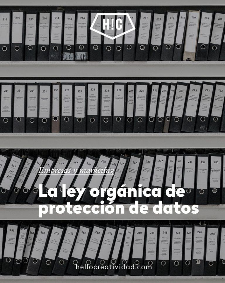 Imagen portada La ley orgánica de protección de datos