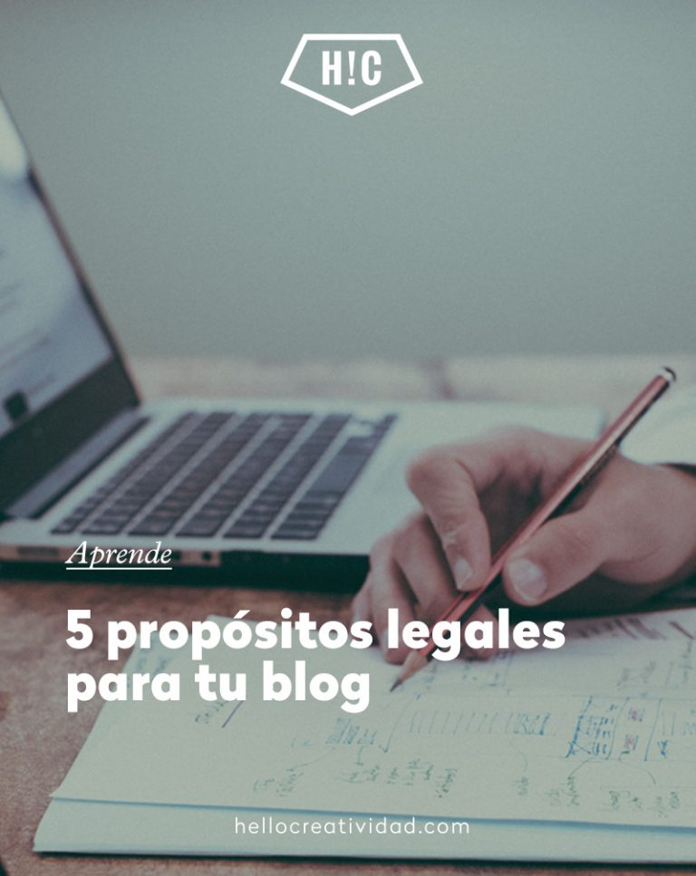 Imagen portada 5 requisitos legales para tu blog