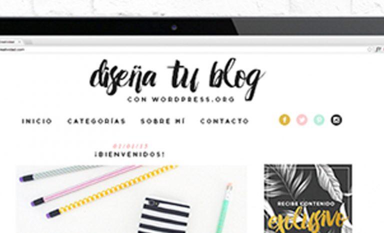 Imagen portada curso online de diseño de blogs