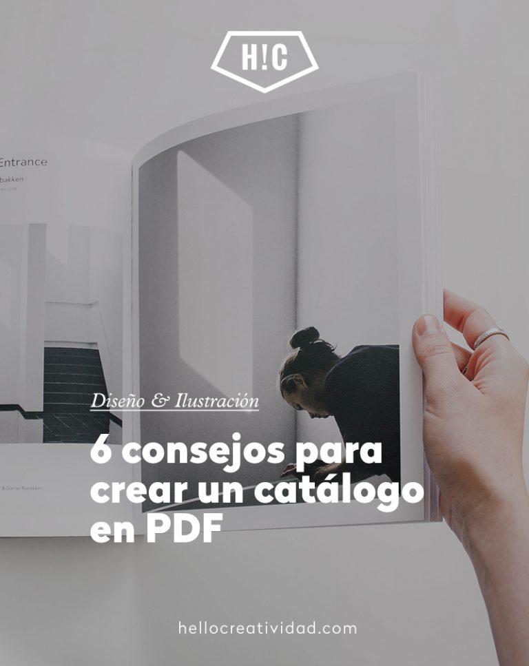 Imagen portada 6 Consejos para hacer un catálogo en PDF