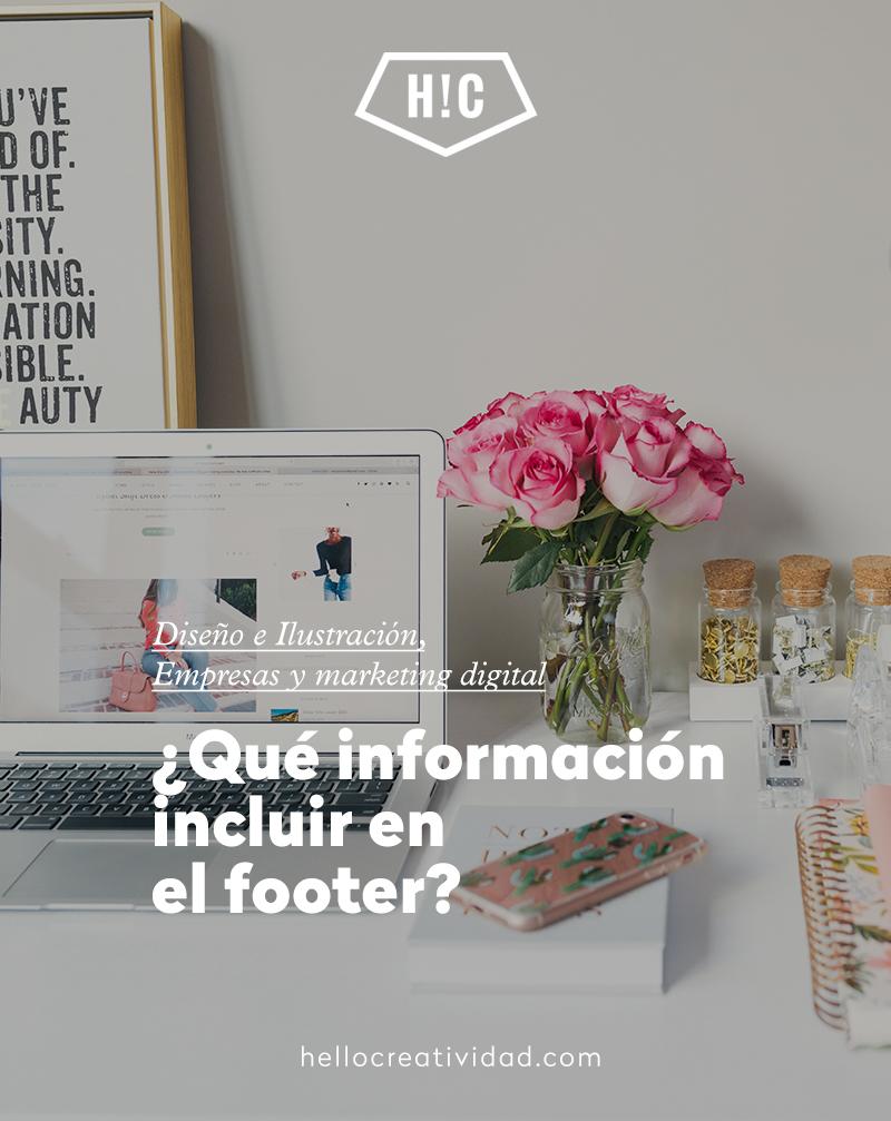 Qué información incluir en el footer