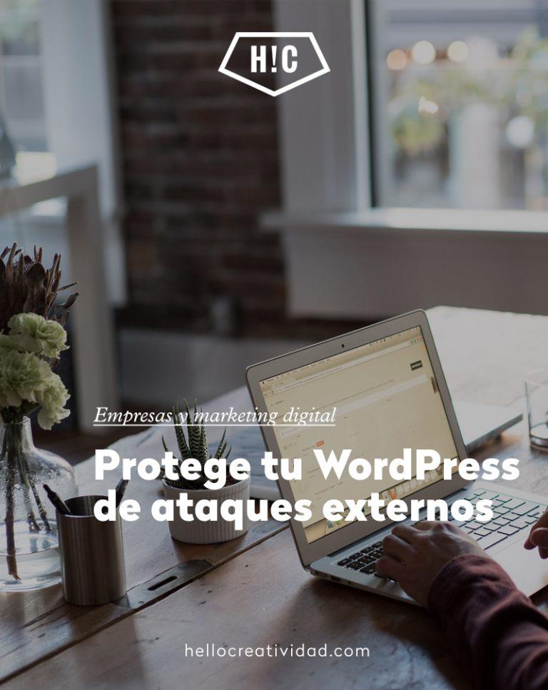 Imagen portada Protege tu WordPress de ataques externos