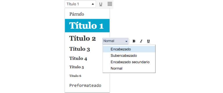 editor de texto para blog