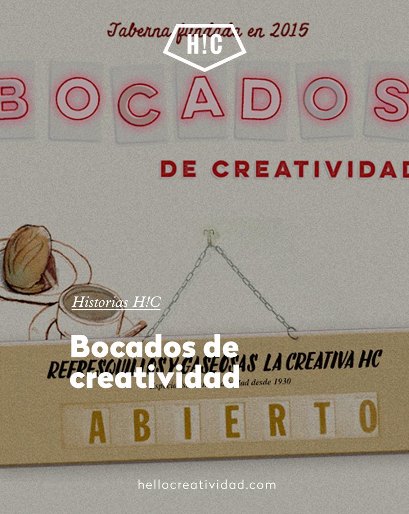 Bocados de creatividad: ¡estamos abiertos!