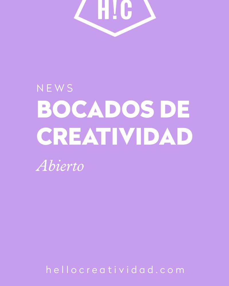 Bocados de Creatividad con Raquel Chicheri