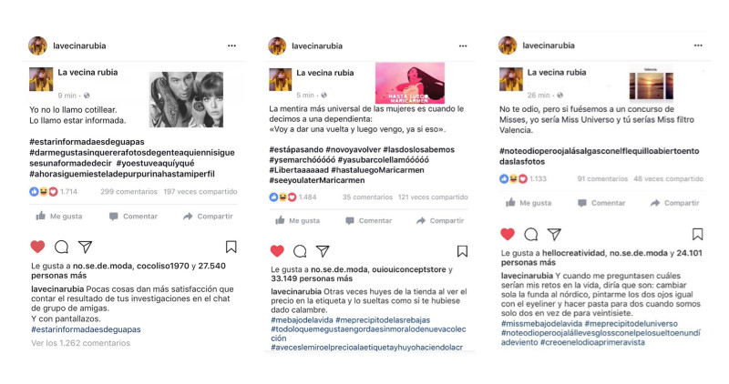 la vecina rubia instagram