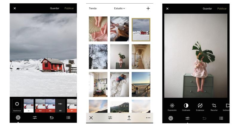 seleccionar fotos con móvil - editar fotos con vsco