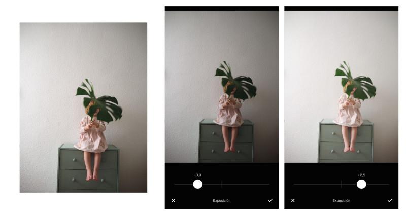 aumentar la luz en fotos de móvil - vsco