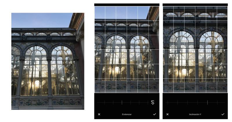 corregir perspectiva con móvil - vsco - editar fotos