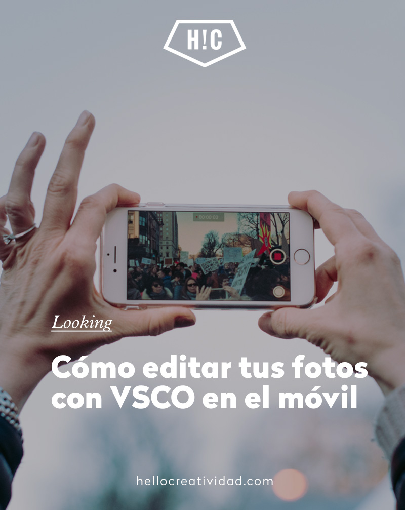 como editar tus fotos con móvil - app vsco
