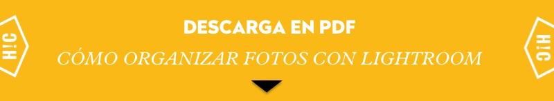 PDF organizar fotos con Lightroom