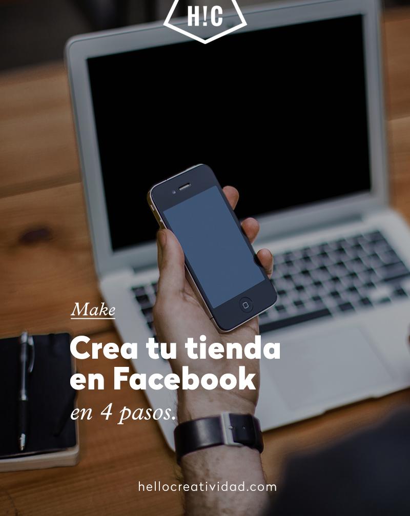 Crea tu tienda en Facebook en 4 pasos