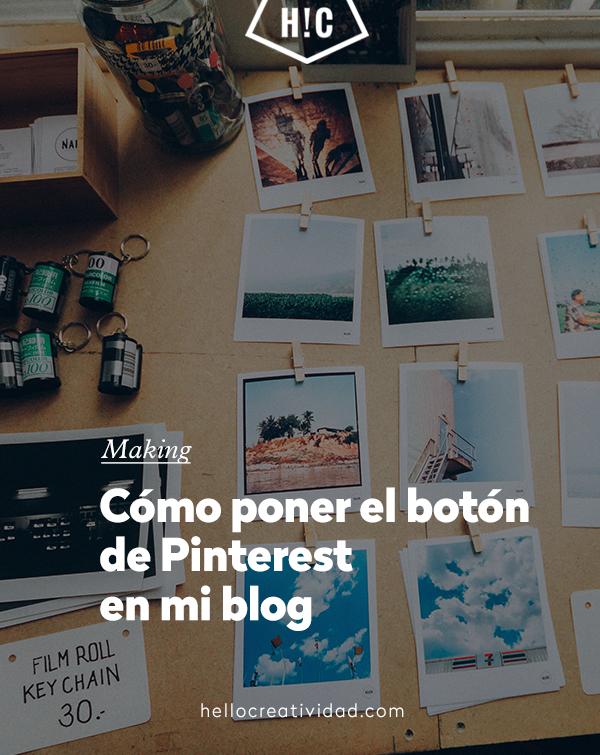 Cómo añadir el botón de Pinterest a mi blog