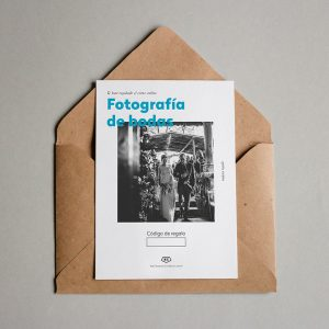 Tarjeta regalo Fotografía de bodas