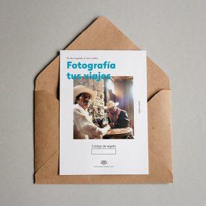 Tarjeta regalo Fotografía tus viajes