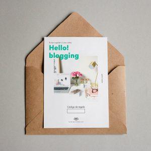 Tarjeta regalo Hello! Blogging