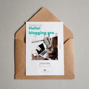 Tarjeta regalo Hello! Blogging Pro