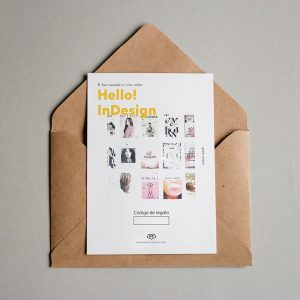 Tarjeta regalo Hello! InDesign