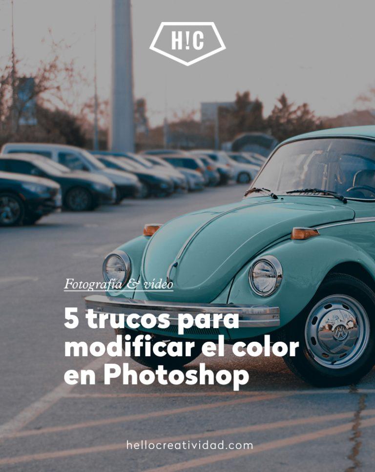 Imagen portada 5 trucos para cambiar el color en Photoshop
