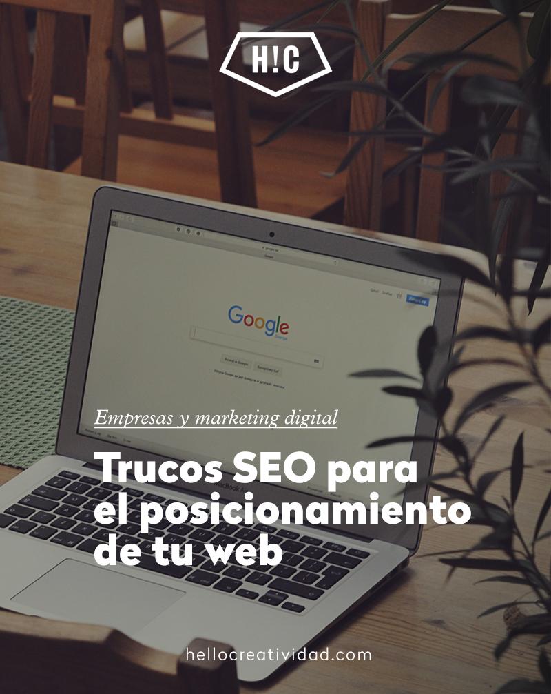 Trucos SEO para mejorar el posicionamiento de tu web