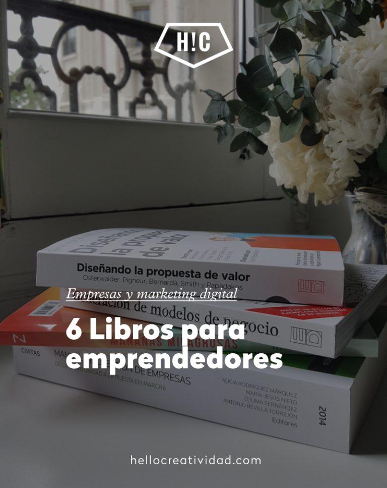 Imagen portada 6 Libros para emprendedores muy recomendables