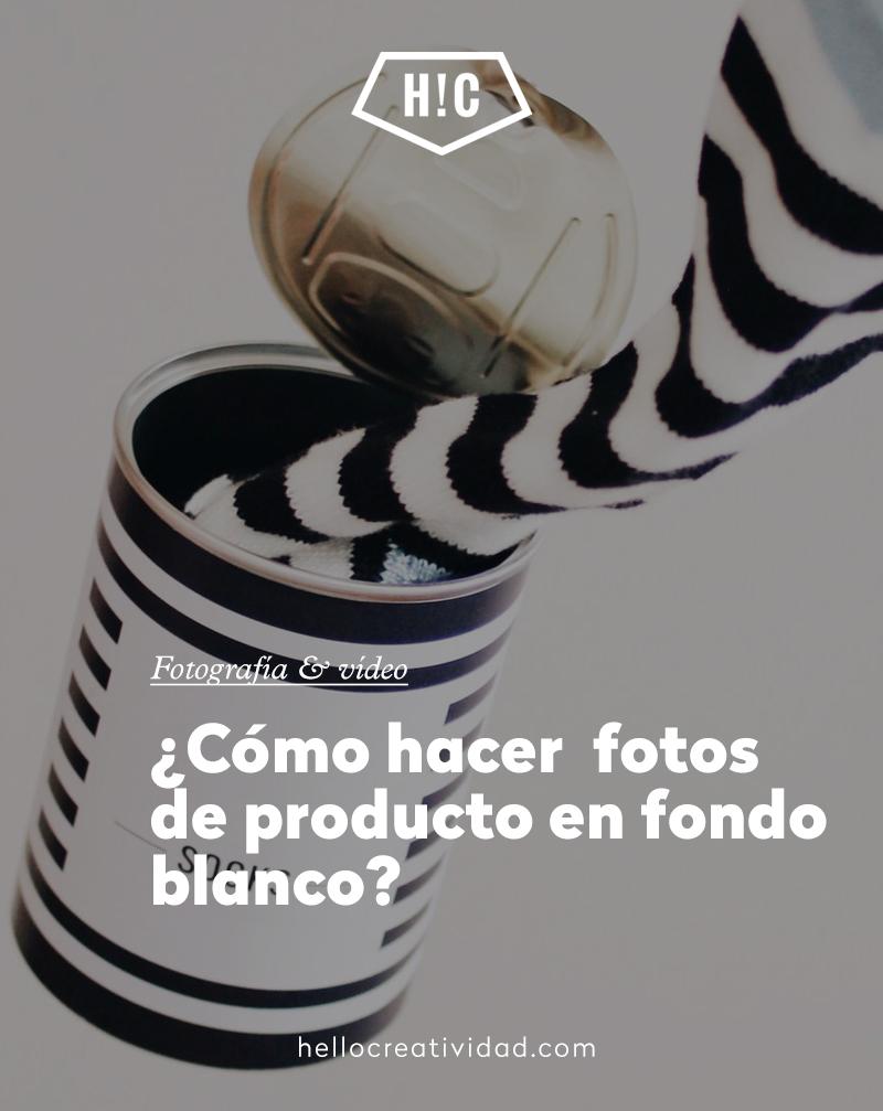 Fotografía de producto sobre fondo blanco