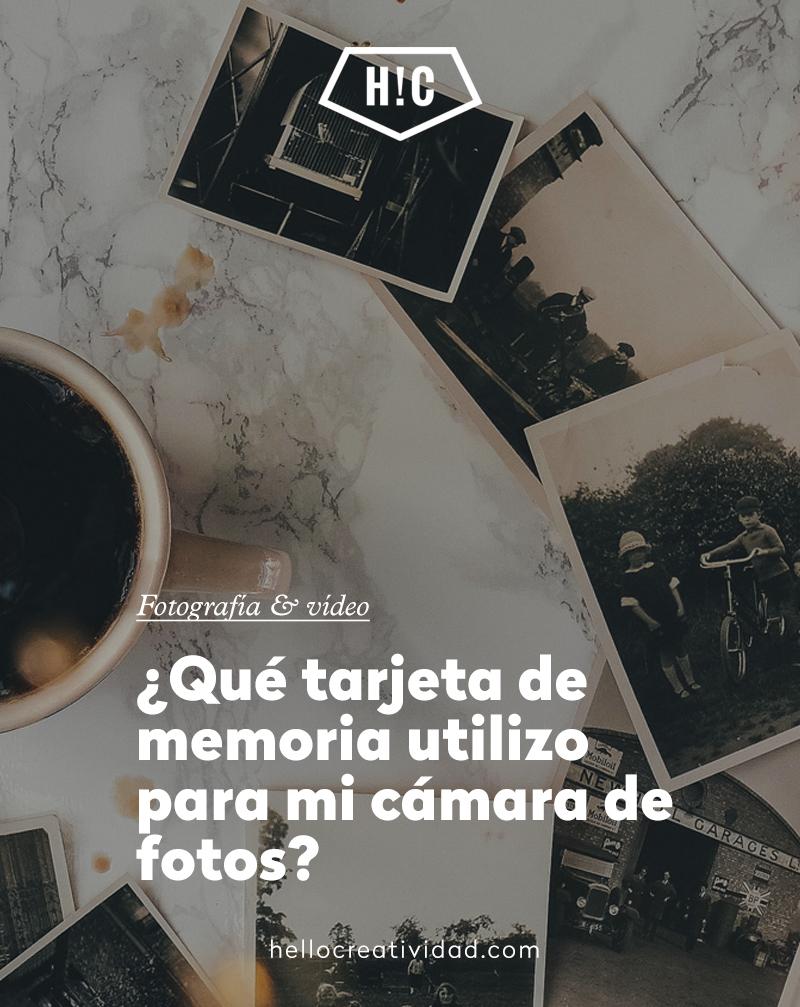 ¿Qué tarjeta de memoria utilizo para mi cámara de fotos?