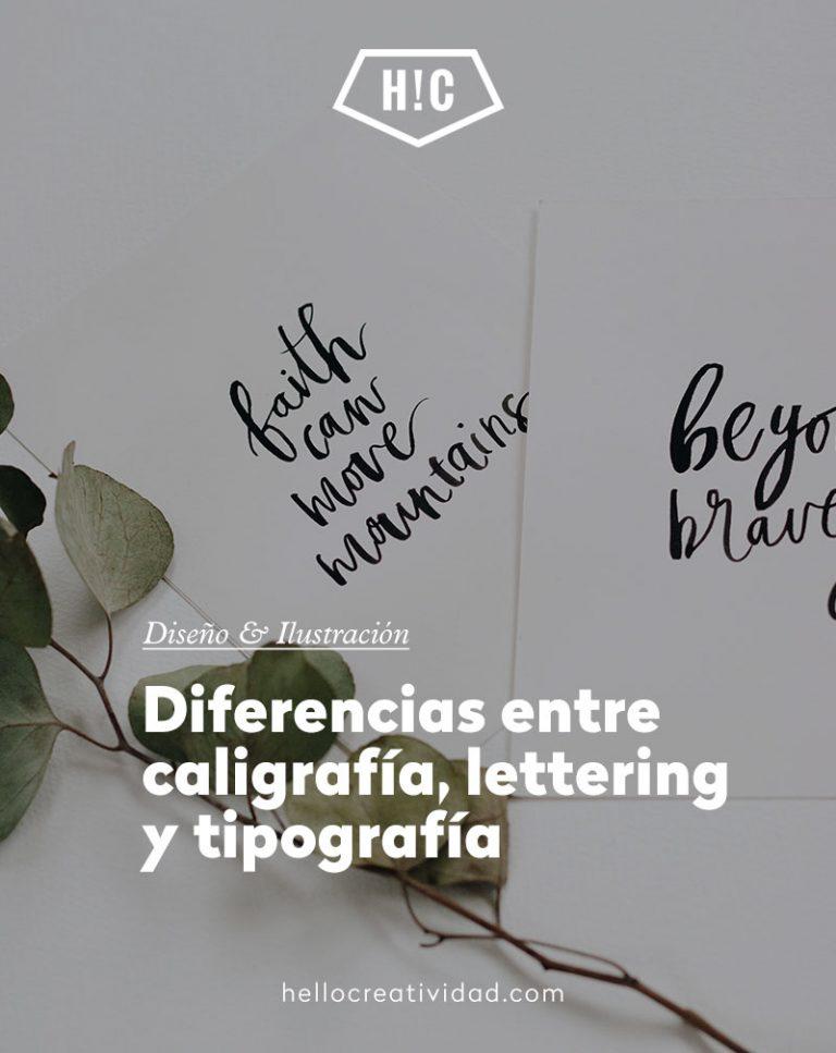 Imagen portada Diferencias entre caligrafía, lettering y tipografía