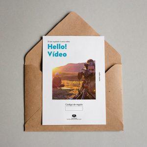 Tarjeta regalo Hello! Vídeo