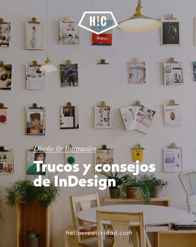 Trucos y atajos de InDesign