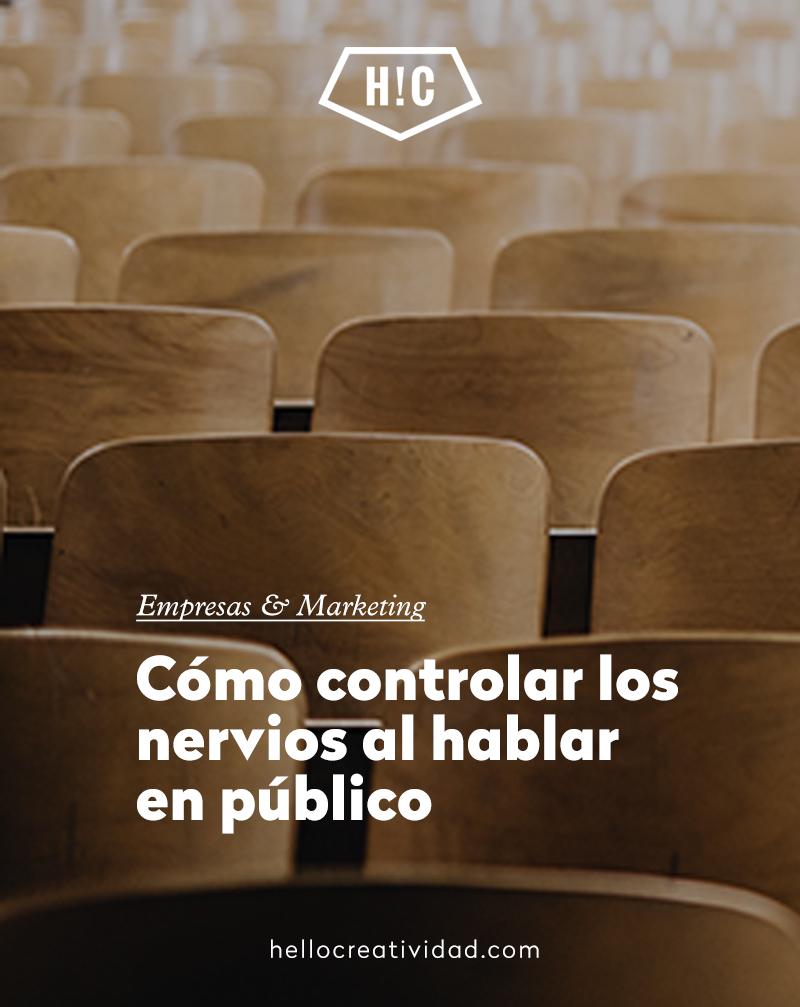 Cómo controlar los nervios al hablar en público