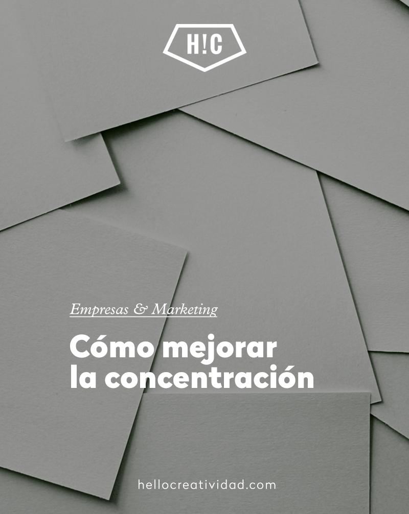 Cómo mejorar la concentración