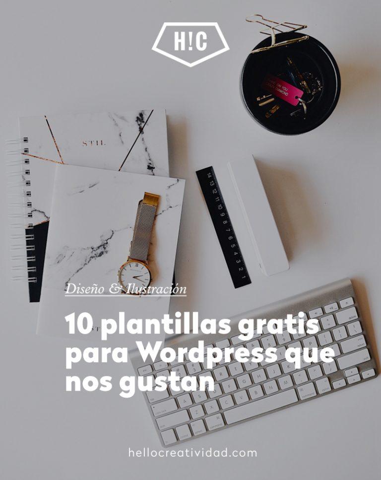 Imagen portada 10 plantillas gratis de WordPress que nos gustan